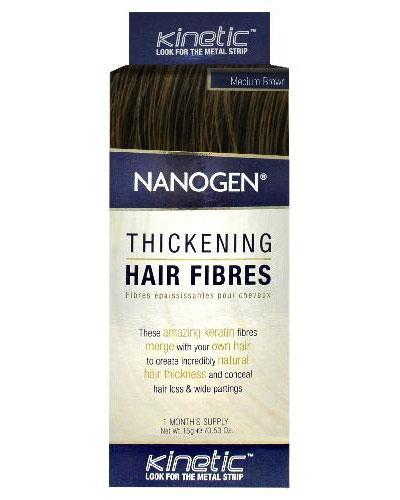 Nanogen Keratin hårfibre medium brun 15g