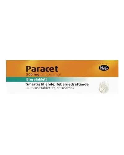 Paracet 500mg brusetabletter 20stk