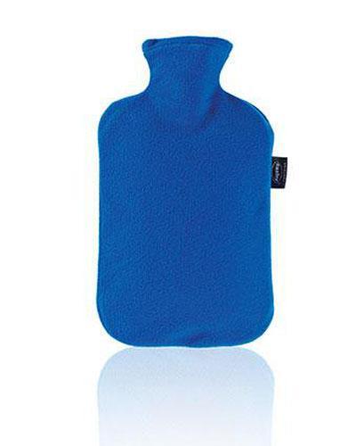 Fashy varmeflaske med fleecetrekk safirblå 1stk