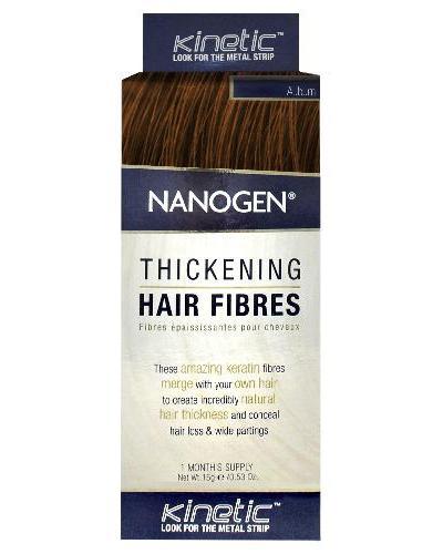 Nanogen Keratin hårfibre auburn rødbrun 15g
