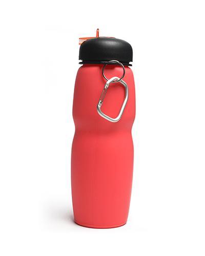 Drikkeflaske i silikon 600 ml korall 1 stk