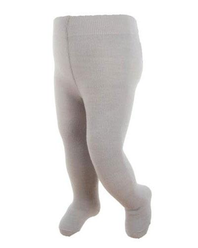 WE strømpebukse ull lys grå str 1-2år 1stk