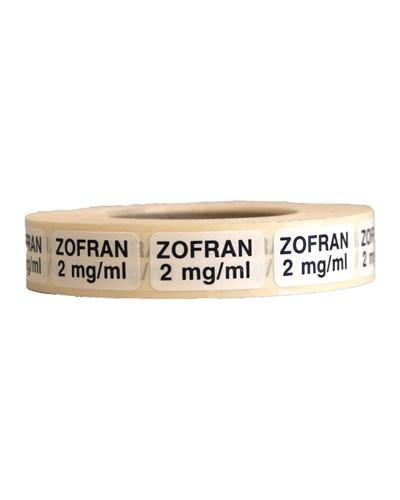 Streifetiketter Zofran 2mg/ml 1000stk
