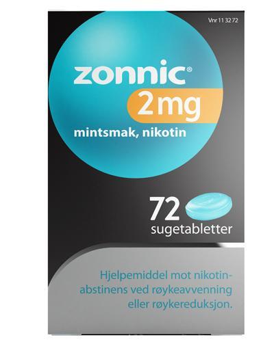 Zonnic 2 mg sugetabletter mintsmak 72Stk