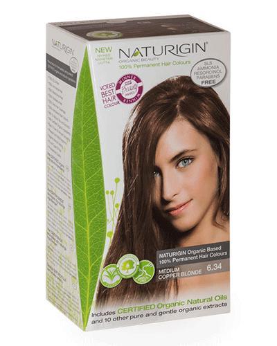 Naturigin hårfarge 6.34 Blond Medium Copper 1stk