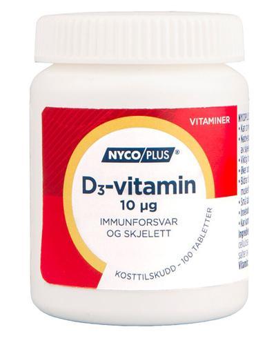 Nycoplus D3-vitamin 10µg tabletter 100stk