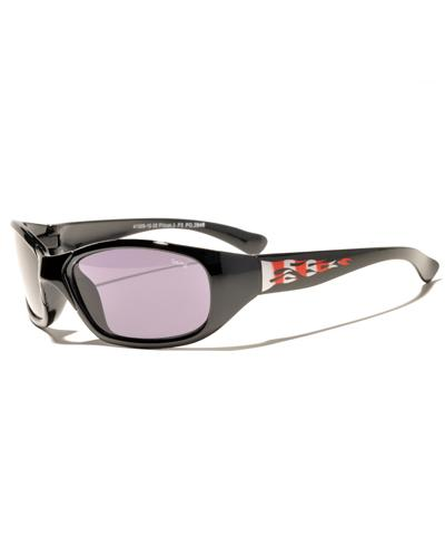 Prestige solbrille til barn sort/flammer 1stk