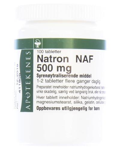 Natron NAF 500mg tabletter 100stk
