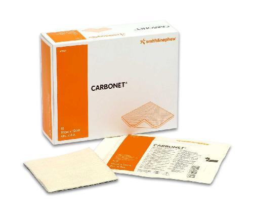 Carbonet kullbandasje 10x10cm 10stk