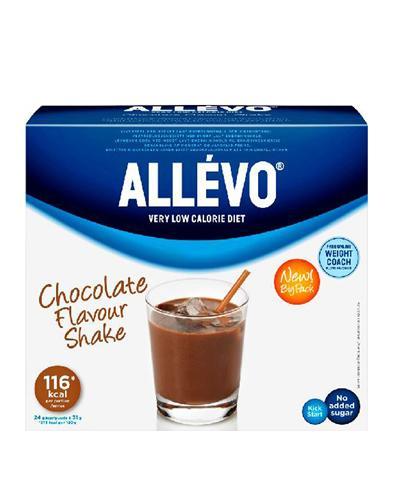 Allévo VLCD shake sjokolade storpakning 24x31g