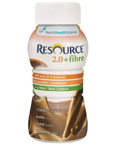 Resource 2,0+fibre næringsdrikk kaffe 4x200ml