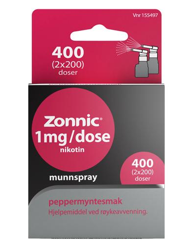 Zonnic 1mg/dose munnspray peppermyntesmak 2x200doser