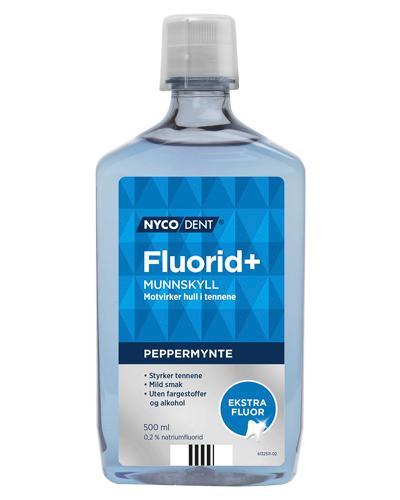 Nycodent Fluorid+ 0,2% munnskyll peppemynte 500ml