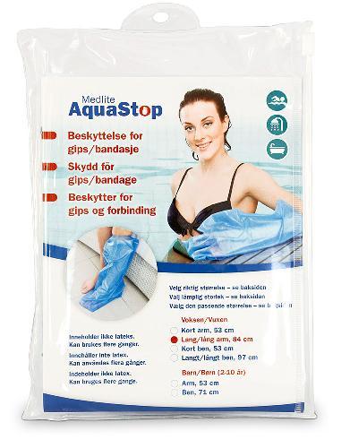 Aquastop dusjbeskytter voksen arm lang 1stk