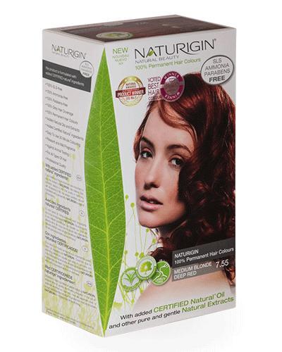 Naturigin hårfarge 7.55 Blond Medium Red 1stk