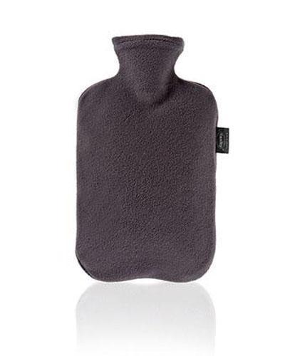 Fashy varmeflaske med fleecetrekk grå 1stk