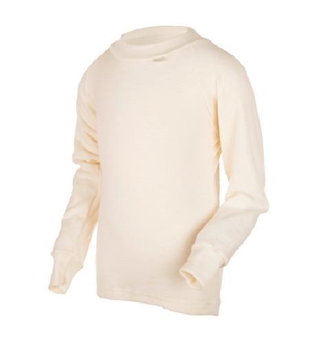 WE trøye 100% ull hvit str. 3-4år 1stk