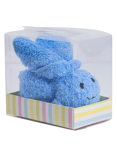 Blå vaskeklut formet som kanin 1stk