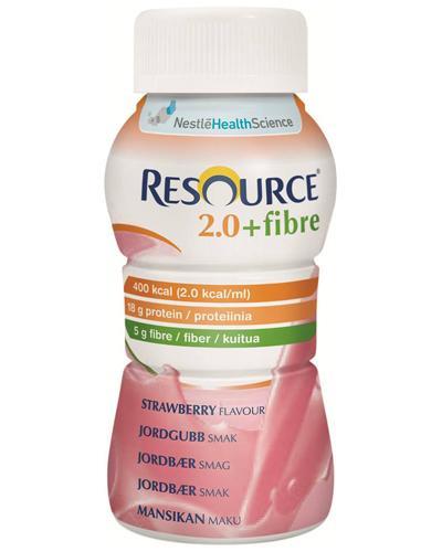 Resource 2,0+fibre næringsdrikk jordbær 4x200ml