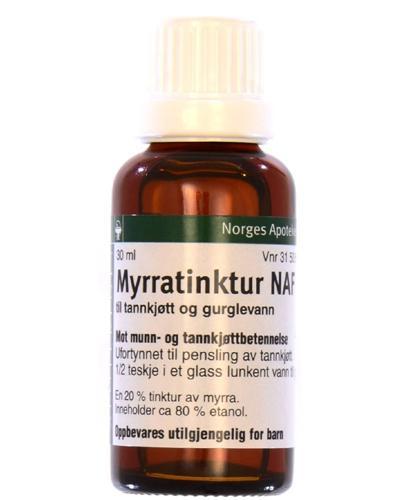 Myrratinktur NAF til tannkjøtt og gurglevann 30ml