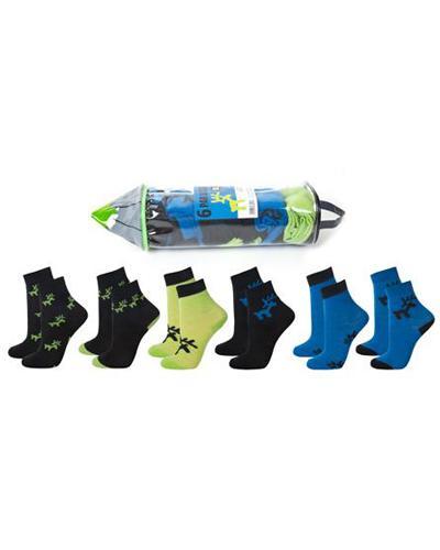 WE ullsokk pennal blå/grønn str 30-34 6par