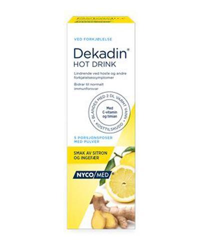 Dekadin Hot Drink ingefær, sitron og C-vitamin 5stk
