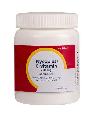Nycoplus C-vitamin 250mg tabletter 100stk