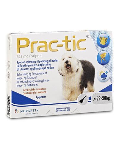 Prac-tic 625mg flåttmiddel til hund 22-50kg 3x5ml