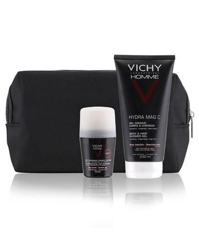 Vichy Homme gave toalettmappe til menn 200+50ml