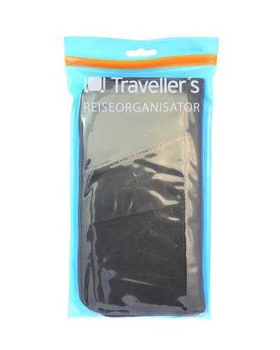Travellers reiseorganisator/mappe med glidelås 1stk