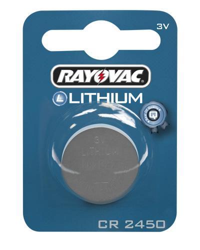 Rayovac CR2450 3V litium-batteri 1stk