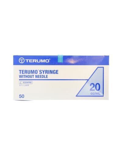 Terumo sprøyte u/nål 20ml luer eksentrisk 50stk