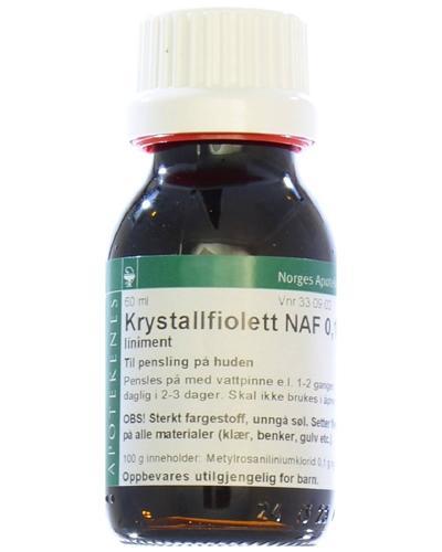 Krystallfiolett NAF 0,1% liniment 60ml