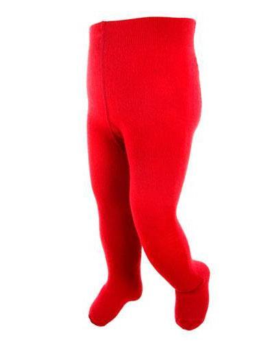 WE strømpebukse ull rød str 1-2år 1stk