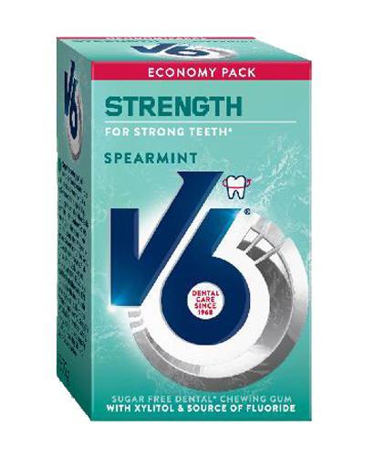 V6 Strength tyggegummi spearmint 70g