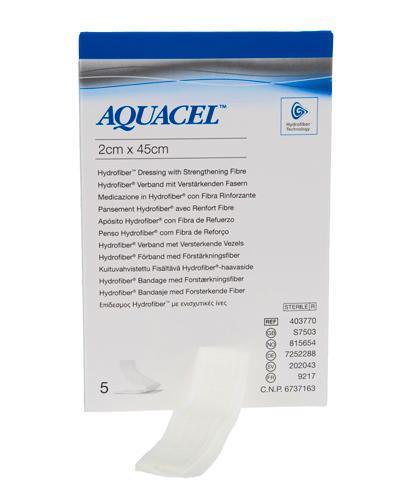 Aquacel hydrofiber sårfyller bandasje 2x45cm 5stk