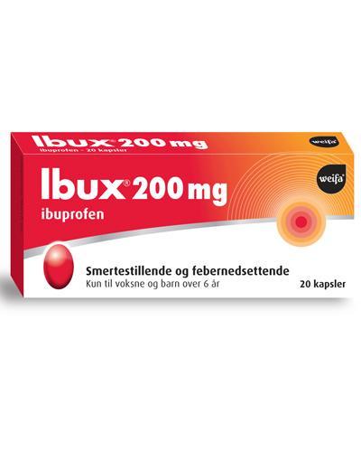 Ibux 200mg kapsler 20stk