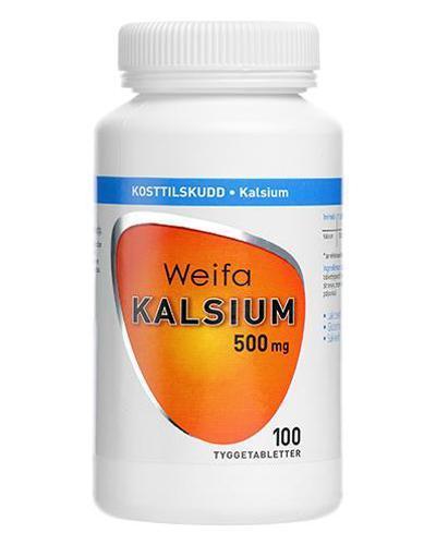 Weifa kalsium 500mg tyggetabletter 100stk