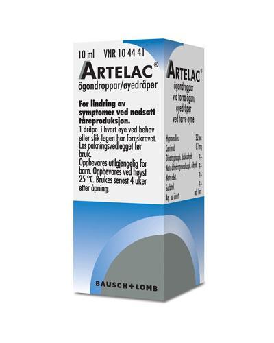 Artelac Øyedråper, oppløsning 3,2 mg/ml 10ml