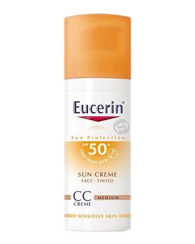 Eucerin Sun Face creme farget solkrem SPF50+ 50ml