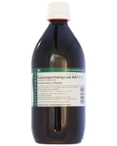 Kaliumpermanganat NAF 3% tilsetning til badevann 500ml