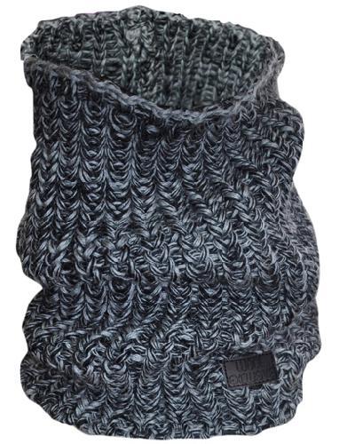 WE tubeskjerf ull sort/grå 1 stk