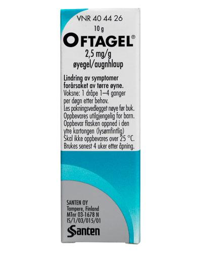 Oftagel Øyegel 2,5 mg/g 10g