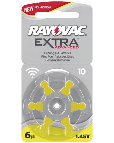 Rayovac extra advanced 10 høreapparatbatterier 6stk