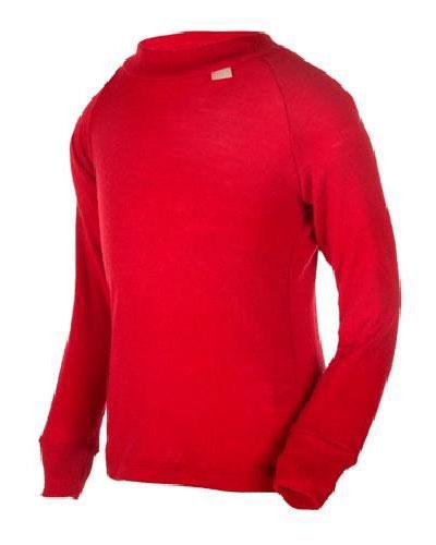 WE trøye 100% ull rød str 7-8år 1stk