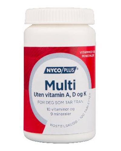 Nycoplus Multi uten A-, D- og K-vitamin 100stk