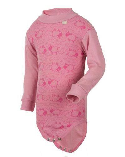 WE body jacquard ull rosa str 1-2år 1stk
