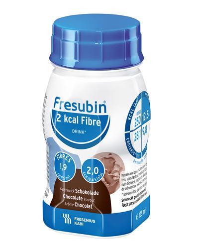 Fresubin 2 kcal Fibre Mini næringsdrikk sjokolade 4x125ml