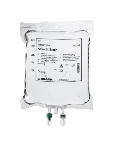 Sterilt vann B. Braun skyllevæske i Ecobag 10x1000ml