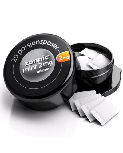 Zonnic 2mg munnpulver i porsjonspose mintsmak 20stk